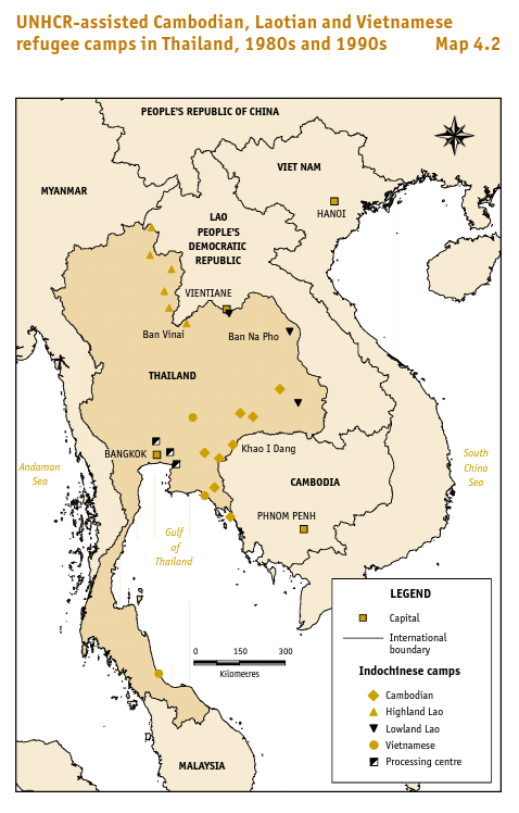 Thai area unhcr map